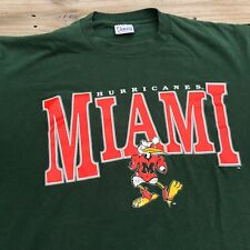 Vintage 90's Miami Hurricanes T-Shirt Men's sz XL NCAA Football UM Canes
