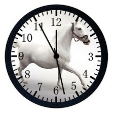 Beautiful White Horse Frame Wall Clock Nice For Gifts or Decor W55