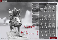 Custom Hero Forge 28mm Miniatures for Dungeons and Dragons, Pathfinder, Dnd