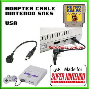 Super Nintendo Power Supply Adapter Cable SNS-001 American US SNES Virtual Boy