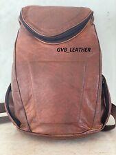 """15"""" Bag Vintage Leather Back Pack Backpack Rucksack Laptop Travel Bag GH-403"""