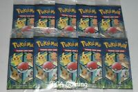 10x SEALED General Mills Pokemon Cereal 3-Card Booster Packs !!! NEAR MINT