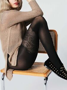 Elizabeth 3D Patterned FIORE Tights 40 Denier Mock Hold Up Luxury Sexy