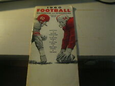 1960 Football Handbook and schedules