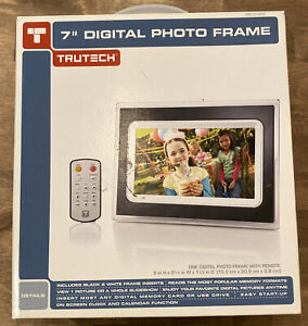 """Trutech 7"""" Inch Digital Picture Frame * BRAND NEW NEVER USED"""