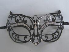 Black Filigree Metal Venetian Party Masquerade Mask No 13 NEW *