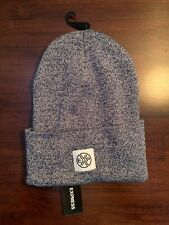 NWT Express Men's Winter Ski Knit Hat Blue & White - One Size