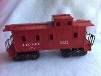 Lionel Trains Vintage Caboose 6257 Red Train 21773