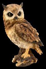 Eulen Figur - Waldohreule groß - Uhu Kauz Vogel Dekostatue