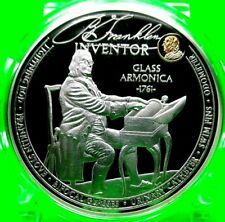 BENJAMIN FRANKLIN INVENTOR COMMEMORATIVE COIN PROOF
