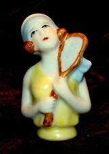 Half doll Figurine Tennis Half Doll Pincushion Art Deco-German Style Art Nouveau