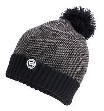 Fox Chunk Bobble Hat Grey Black Marl CPR762 Bommelmütze Mütze Wintermütze