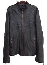 JAN HILMER Mens Jacket Leather Black Size L