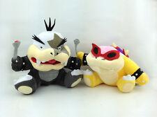"2X Super Mario Bros Plush Toy Koopalings Morton Koopa Jr. & Roy Bowser Kids 7"""