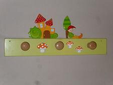 Porte manteaux fantaisie en bois pour enfant (hauteur:19cm, longueur:50cm)