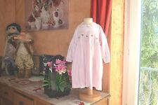 robe tartine et chocolat 18 mois smokee petits coeurs manches longues rose