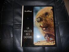 Livre La vallée des castors de Disney 1956