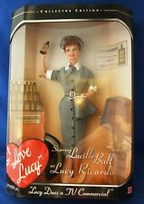 "Barbie I Love Lucy TV Commercial Film Portrait 11.5"" Doll 1997 Mattel Collector"