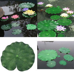 1X Artificial Floating Foam Lotus Leaves Artificial Foliage Pond Decoration 10CM