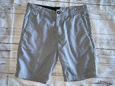 VOLCOM Men's Gray Cotton/Poly Blend Flat Front SHORTS Size 29