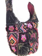 Western Camo Mossy Oak OWL Embroidery Cross Body Aztec Messenger Rag Bag Pink
