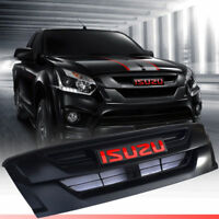 Front Black Grill Grille With Red Logo For Isuzu Dmax D-max 2015 2016 17 18