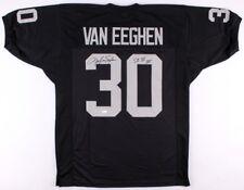 "Mark Van Eeghen Signed Oakland Raiders Jersey Inscribed ""SB XI XV"" (JSA COA)"