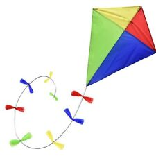 TRADITIONAL FABRIC DIAMOND KITE WITH BOW TRAIL TAIL