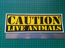 WARNING live animals Sticker Wall Art Bedroom Kitchen Living Room Childrens