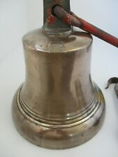 More details for george v1 stamped large wwii era bronze brass fire bell