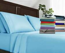 Luxury Bed Sheet Set 1800 Series Egyptian Comfort 4 Piece Deep Pocket Bed Sheets