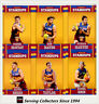 2017 Select AFL Footy Stars Trading Cards Footy Standups Team Set (6)-BRISBANE