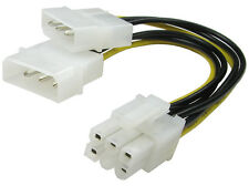 6 Pin PCI Express Graphics Card Internal Power Cable 6P with double molex Power