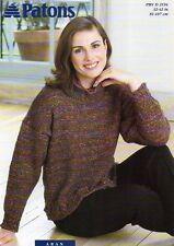 """Patons 2194 Aran 32-42"""" Sweater Ladies Knitting Pattern"""