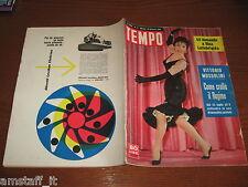 RIVISTA TEMPO 1956/3=GINA LOLLOBRIGIDA=ARTURO TOSI=SALVATORE TIMPANO=