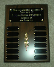 Employee of MonthRecognition Perpetual Award Plaque 12 Plate, 9x12 Trophy
