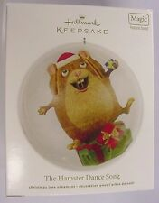 NIB 2012 HALLMARK ORNAMENT THE HAMPSTER DANCE SONG MAGIC FEATURES SOUND QXG3214