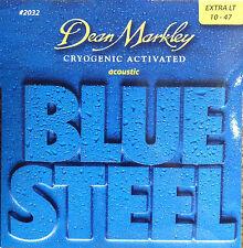 Dean Markley 2032 Blue Steel Acoustic Guitar Strings 10-47 extra light gauge