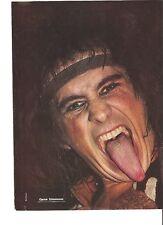 KISS Gene head band magazine PHOTO / mini Poster 11x8 inches
