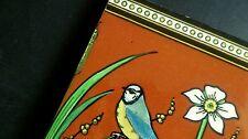 Christopher DRESSER Blue Tit Tomtit Earthenware Tile Minton Victorian Aesthetic