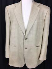 Mens Ralph Lauren Chaps 100% SILK  Tan Sports Blazer Jacket Size 42 R Weave