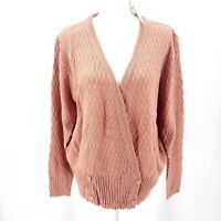 PEPALOVES Four Button Cardigan Relaxed Fit Lightweight Spring Sweater M L