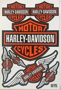 7 Harley Davidson Wing Stickers Decals Vinyl Bike Motorbike Racing Helmet Biker