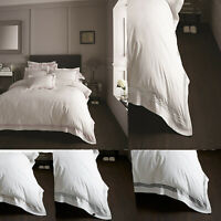 Hotel Quality Devore Duvet Cover Pillow Case Single Double King Bedding Set