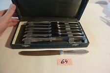 C64 Ménagère avec 12 couteaux Charlex Inox avec écrin d'origine vintage 50' 60'