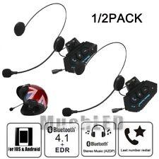 Rechargeable Intercom Helmet Motorcycle Headset Wireless Bluetooth 4.1 Headphone