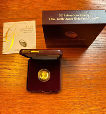 American Liberty 2018 One Tenth Ounce Gold Proof Coin 18XF