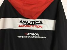 Vintage Men's Nautica Competition Triathlon Sz Large Jacket Swim/Bike/Run