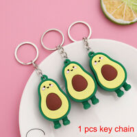 3D Soft Rubber Avocado Keychain Couples Key Chain Ring Keyring Lovers Jewelry