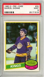 """1980 O-PEE-CHEE MARCEL DIONNE #20 PSA Graded 9 MINT-Cond """"No Reserve INVEST"""""""